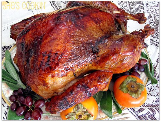 Savory brined turkey with Brown Rice Syrup Glaze - a moist bird with ...