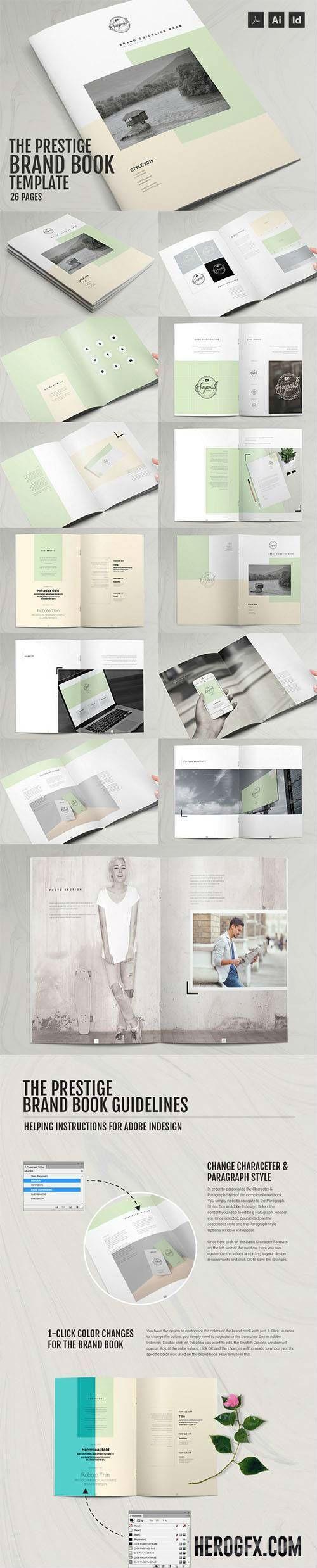 Indesign The Prestige - Brand Manual Template 530845
