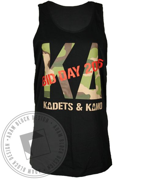 Kappa Delta Kadets and Kamo Tank Top by Adam Block Design