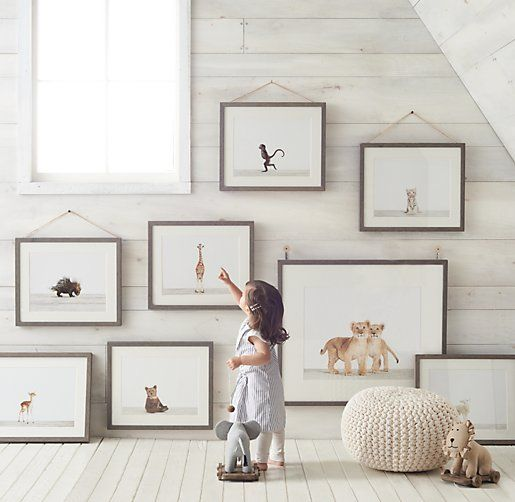 Baby Animal Portraits | Wall Art | Restoration Hardware Baby & Child