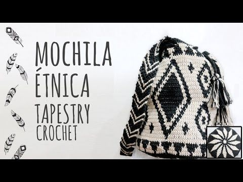 Tutorial Mochila Étnica Tapestry Ganchillo | Crochet - YouTube