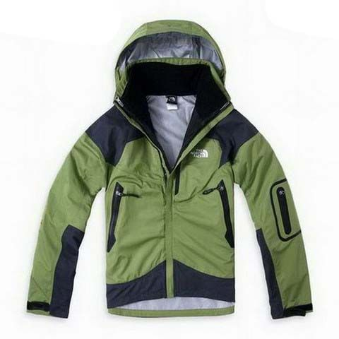 Mens The North Face Triclimate 3 In 1 Jacket Green White Lining
