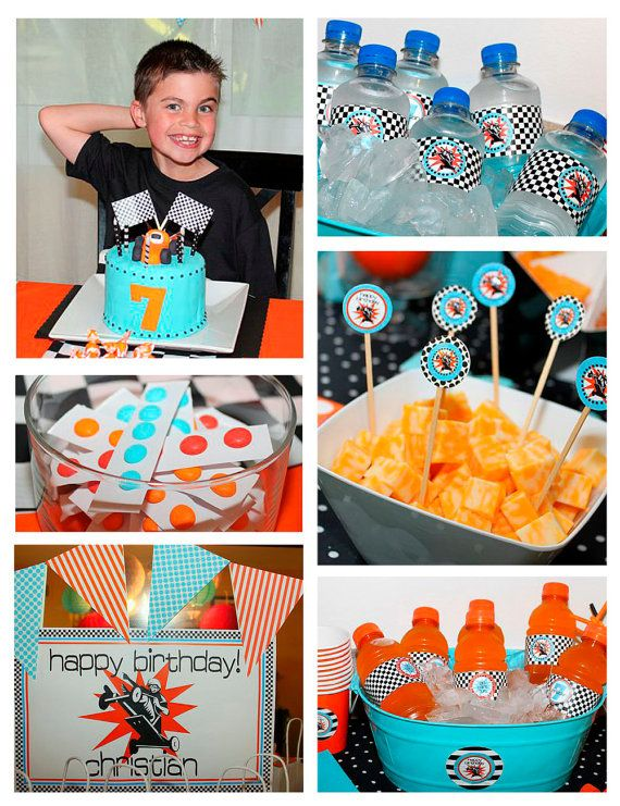 Go Kart Racer Party - Birthday - Race car - Stock Car - Huge Printables Set by Amandas Parties To Go. $29.00, via Etsy.