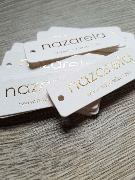 200 Hot foil hang tags silver gold copper by FunkyPrintStudio