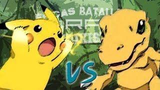 epicas batallas del rap del frikismo.pikachu vs. agumon