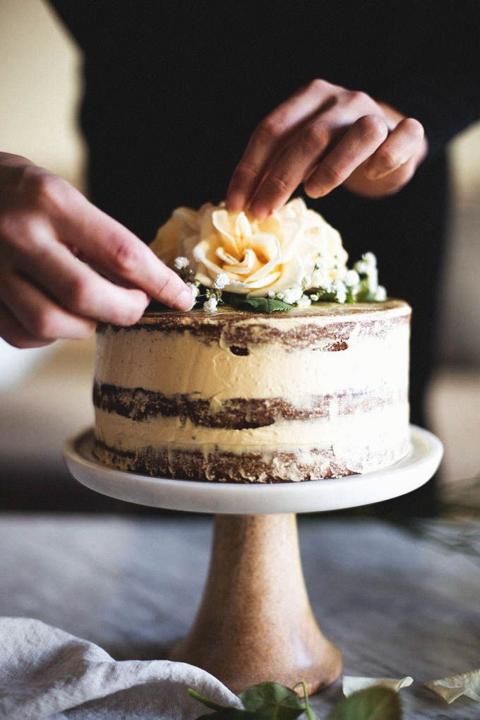 Salted Honey and Orange Blossom Naked Cake | a collaboration with Matters of the Belly
