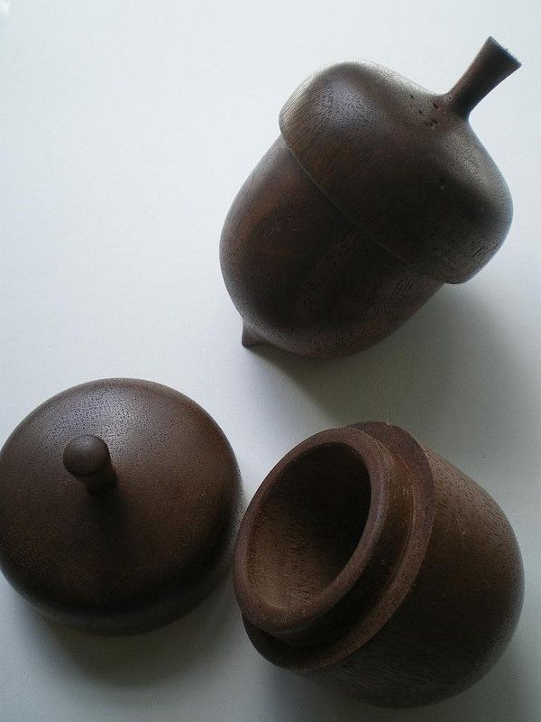 Acorn Box, Hand Turned Wood Acorn,