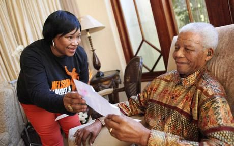 "Nelson Mandela's daughter has told Sky News he is making ""remarkable progress"" in hospital on the eve of his 95th birthday. In an exclusive interview conducted in the home of the former South African president's second wife Winnie, Zindzi Mandela says he is communicating with his eyes and hand. She revealed he is also watching television and using headphones to hear the sound. ""You can see he is there in his eyes, the same energy and strength,"" she said, and hopes he will be released ""soon""."
