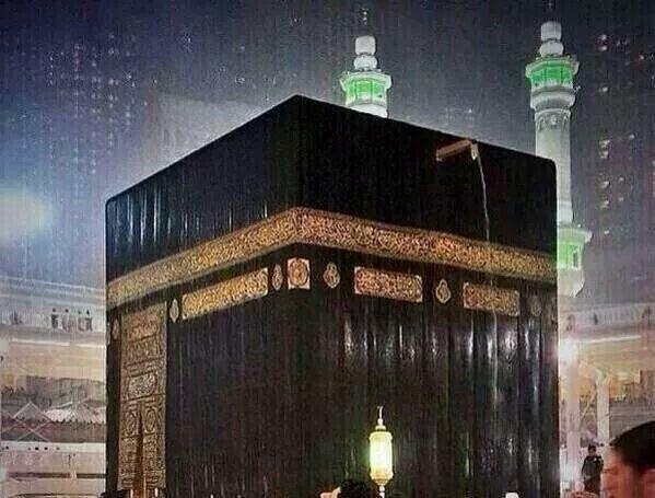 Raining in Makkah, beautiful