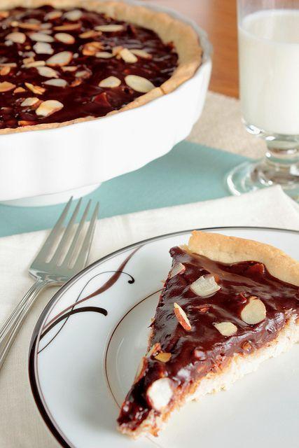 Tarte amande chocolat et noix de coco