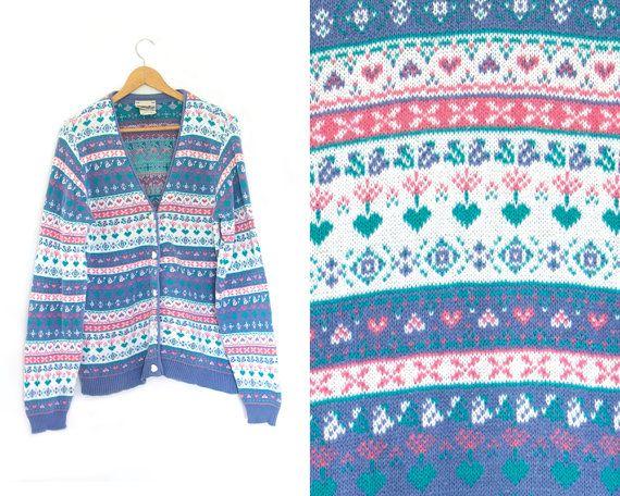Vintage Northern Cardigan Sweater. V Neck. by LiveToLiveVintage