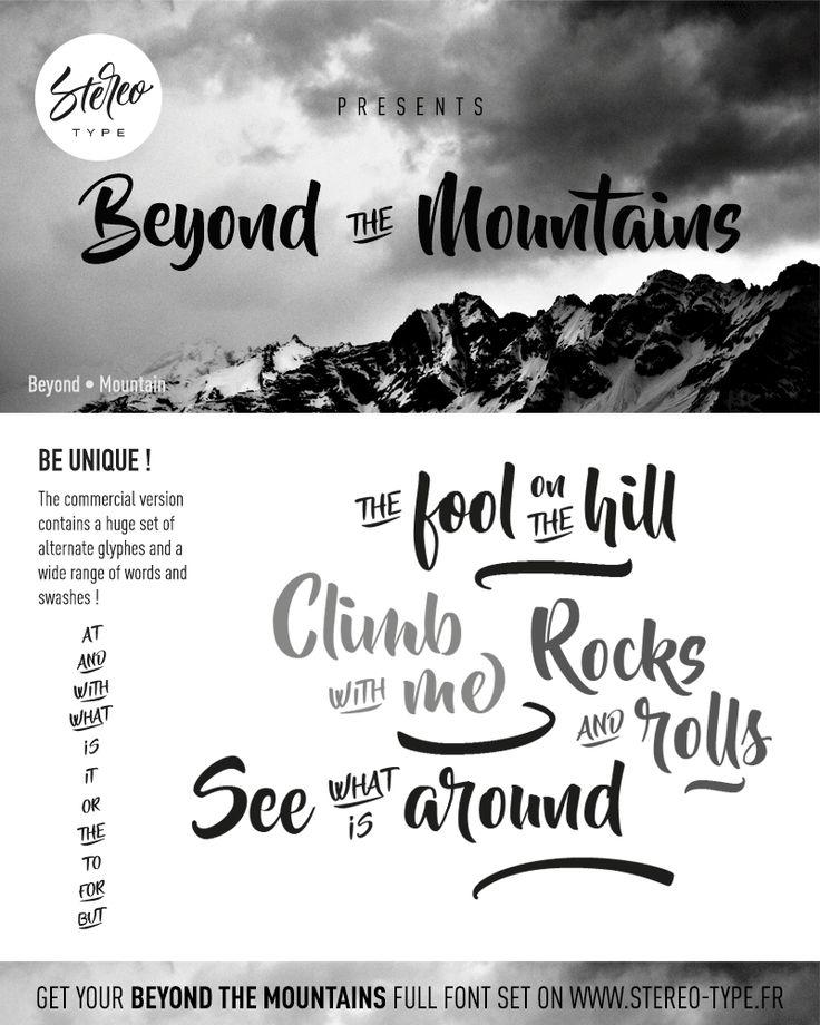 Beyond The Mountains   dafont.com