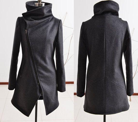 Cisne negro  abrigo de lana de cachemir por idea2lifestyle en Etsy
