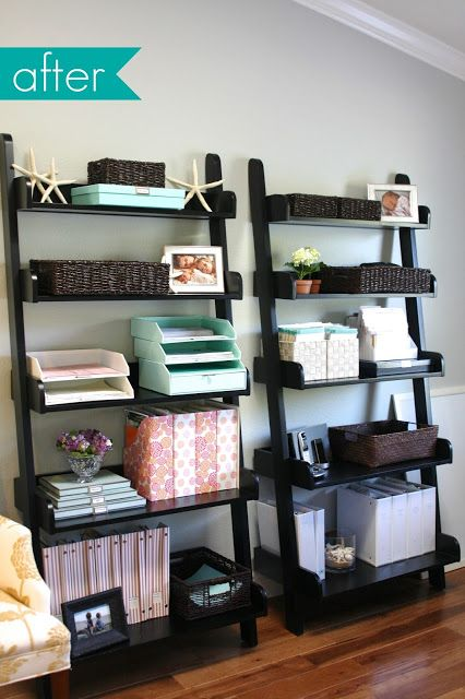 DIY office organization - with Martha Stewart - see how to's