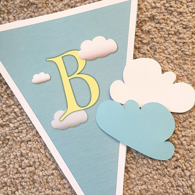 Party prep. Whats the theme?   Find our cloud banner in our Etsy store and use it with almost any childrens birthday theme.   #clouds #birthdayparty #kidsparty #rain #unisex #toddlerparty #rainbow #rainbowtheme #banner #happybirthday #partyplanner #partyideas #hotairballoonparty #balloons #etsyshop #etsyseller #etsysellersofinstagram #onlineshop #deardarling #instantdownload #doityourself #diyparty #partydecor