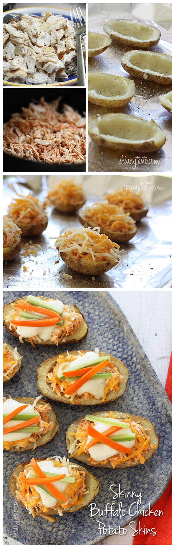 Skinny Buffalo Chicken Potato Skins | Recipe