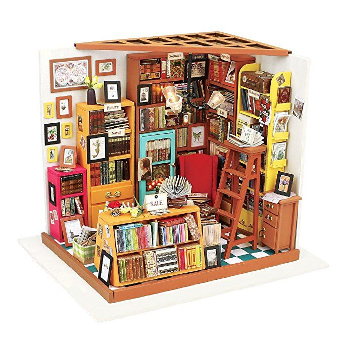 1:24 Dollhouse Kit Miniature DIY Classroom House Kits Birthday Gift