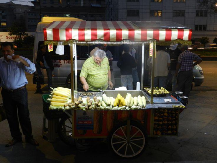 Istanbul, hot roasted Corn on the Cob. Yummo! 2012
