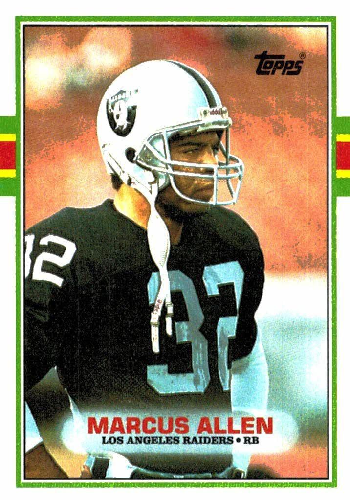 1989 Topps Marcus Allen Oakland Raiders