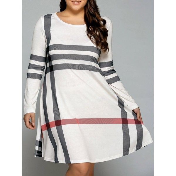 Casual Plus Size Striped Knee Legnth T Shirt Dress ($9.99) ❤ liked on Polyvore featuring dresses, women plus size dresses, plus size striped dress, stripe dresses, plus size tee shirt dress and stripe t shirt dress