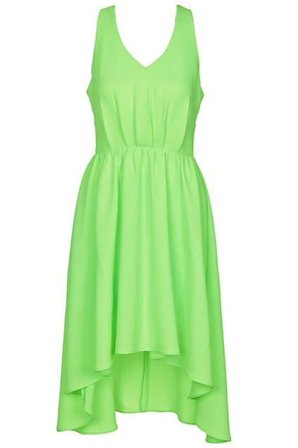 Asymmetric Light Green Dress. Description Light green dress, featuring crossed straps on the back, V-neck, sleeveless, rear zipper, asymmetric hem, lined. Fabric Polyester. Washing 40 degree machine wash , low iron. #Romwe