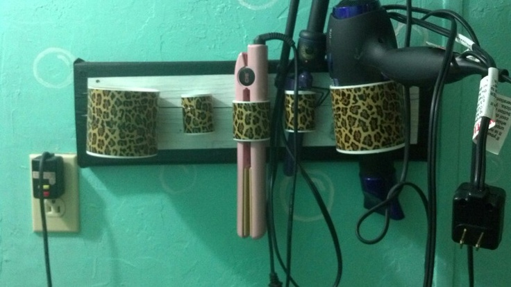Diy hair styling tool holder made of pvc pipes old block for What are old plumbing pipes made of