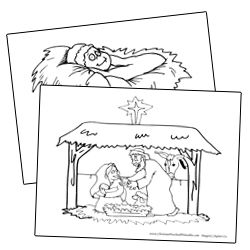 coloring pages christmas sunday school - photo#49