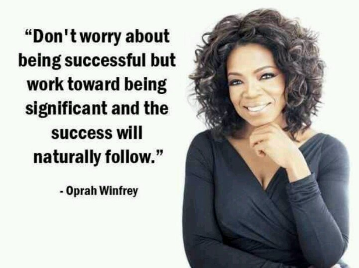 Oprah Winfrey quote quotes on success