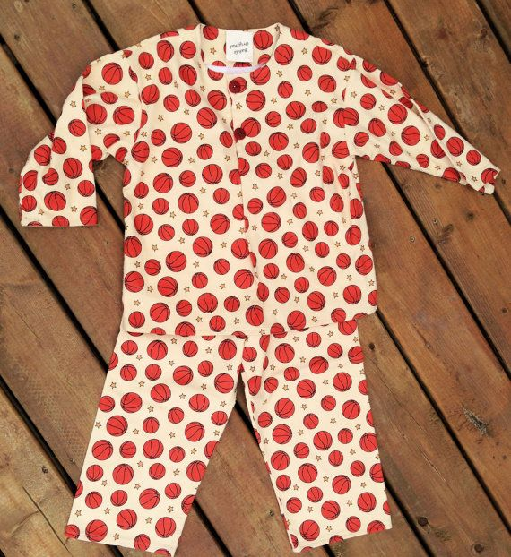 Children's Pyjama  Handmade Flannel Pyjama set with by Bahde, $38.00