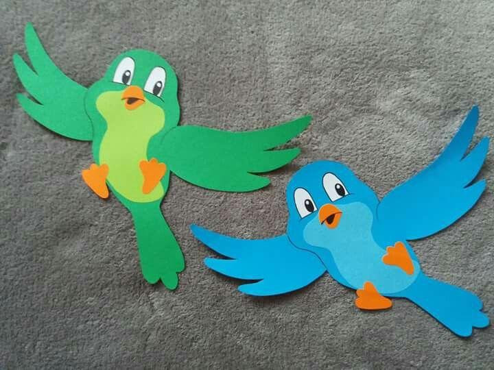 bird paper craft - spring kids craft