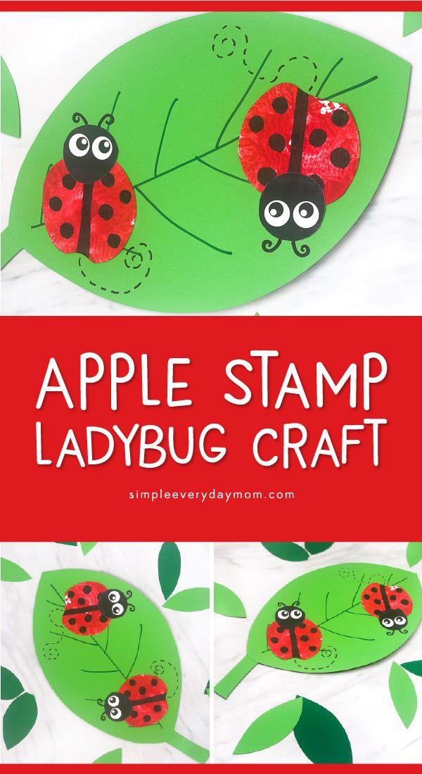 Apple Stamp Ladybug Craft For Kids Ladybug Crafts Ladybugs Preschool Insect Crafts