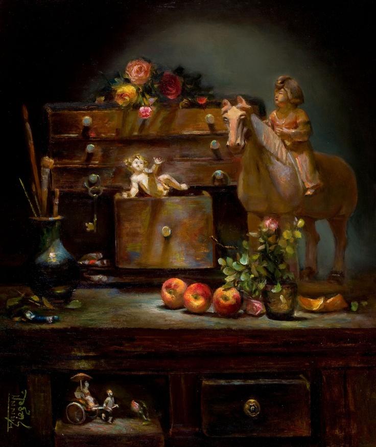 FANNY SIEGEL (American, 20th Century)  Enchanted Chest
