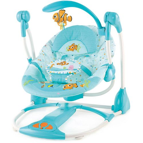 Disney Baby Finding Nemo Portable Swing....is it really worth getting a new swing for a 7 month old just because it has Nemo? Probably yes since the other one is huge...