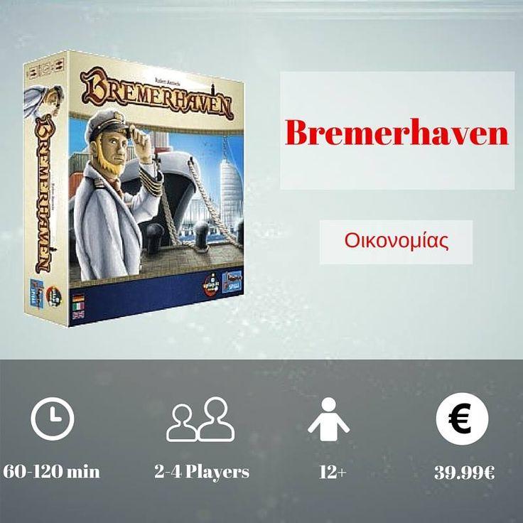 Το Bremerhaven είναι ένα πολύπλοκο οικονομικό παιχνίδι για την περίφημη πόλη-λιμάνι της Γερμανίας. Κάθε παίκτης χτίζει το δικό του λιμάνι και προσπαθεί να κάνει τον καλύτερο συνδυασμό χρημάτων και κύρους μέχρι το τέλος του παιχνιδιού. https://goo.gl/Tu2UHB