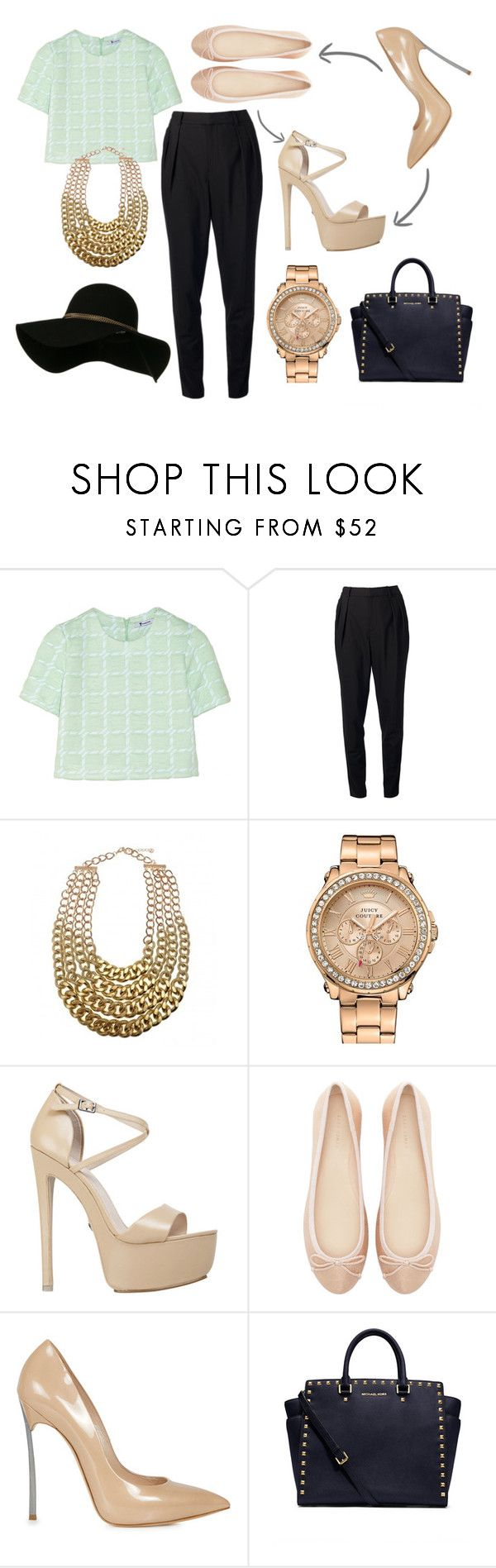"""""""Flats or Heels?"""" by mariam-magana ❤ liked on Polyvore featuring T By Alexander Wang, Helmut Lang, Juicy Couture, KG Kurt Geiger, Zara, Casadei and MICHAEL Michael Kors"""