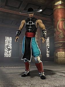 Kung Lao - Mortal Kombat; a former Shaolin monk & ex-member of the White Lotus Society who stands in the shadow of his great ancestor, the Great Kung Lao. Kung Lao is a close friend of Liu Kang. in Mortal Kombat (2011), Raiden allows Kung Lao to fight, defeat Kintaro, yet, Lao is killed by Shao Kahn. Kung Lao's ending after defeating Shao Kahn shows him at ancestor's burial site with Raiden, where he is a given a vision of the past.