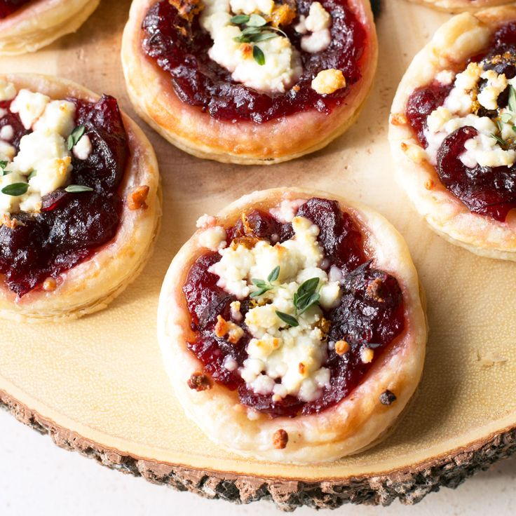 Cranberry Goat Cheese Tarts (3rd Annual Blogsgiving!) - Cake 'n Knife                                                                                                                                                                                 More