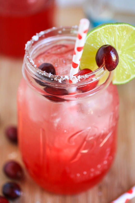 Cranberry Margaritas Sugar on the rim ,have to try