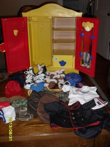 Bon BAB Build A Bear Workshop Wardrobe Closet Armoire Clothes Outfits Fashion  Shoes