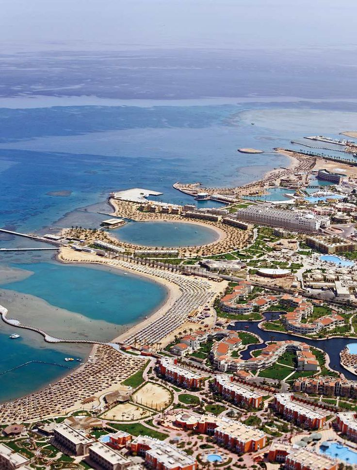 Egypt Hurghada- the resort in the middle is where I stayed