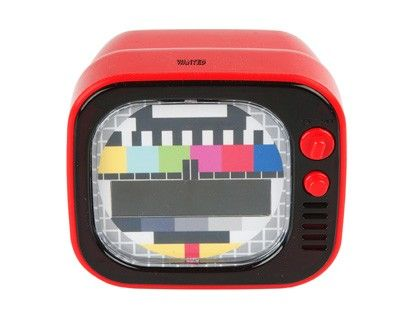 Budzik clock TV #homegadgets #design #present #time ♥ www.pt-store.pl