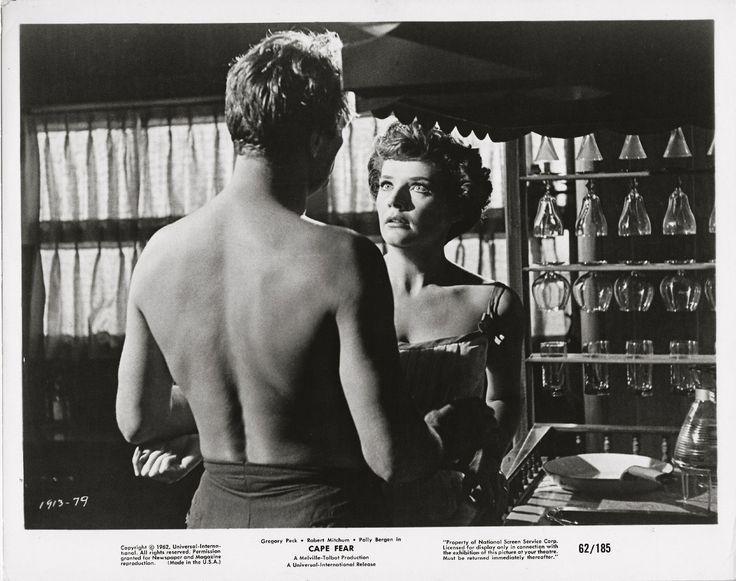 Robert Mitchum, Polly Bergen, Cape Fear, 1962 ~ ORIGINAL scene still... drama!!   eBay