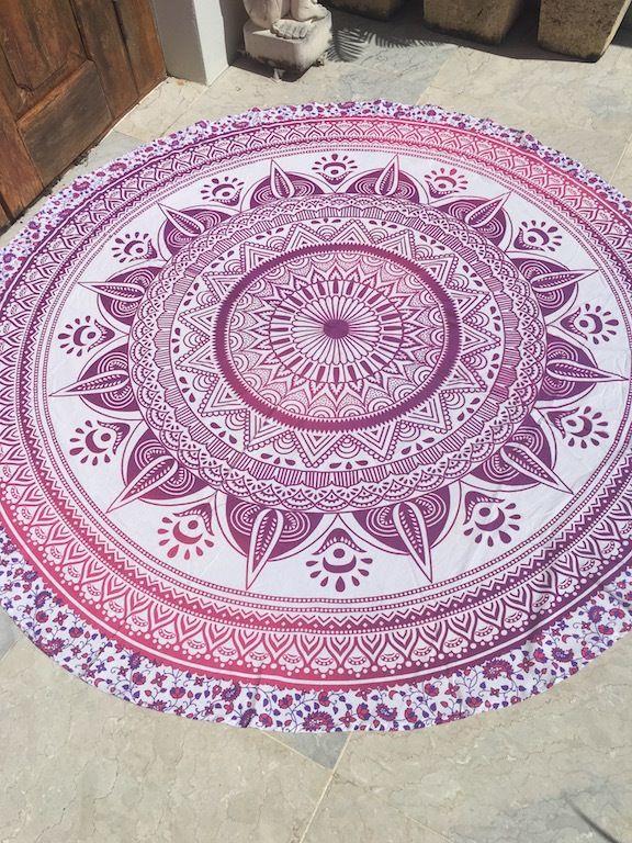 ☾❂☽ Roundie Pink Flower Life Mandala ☾❂☽ www.thirteenblessings.bigcartel.com