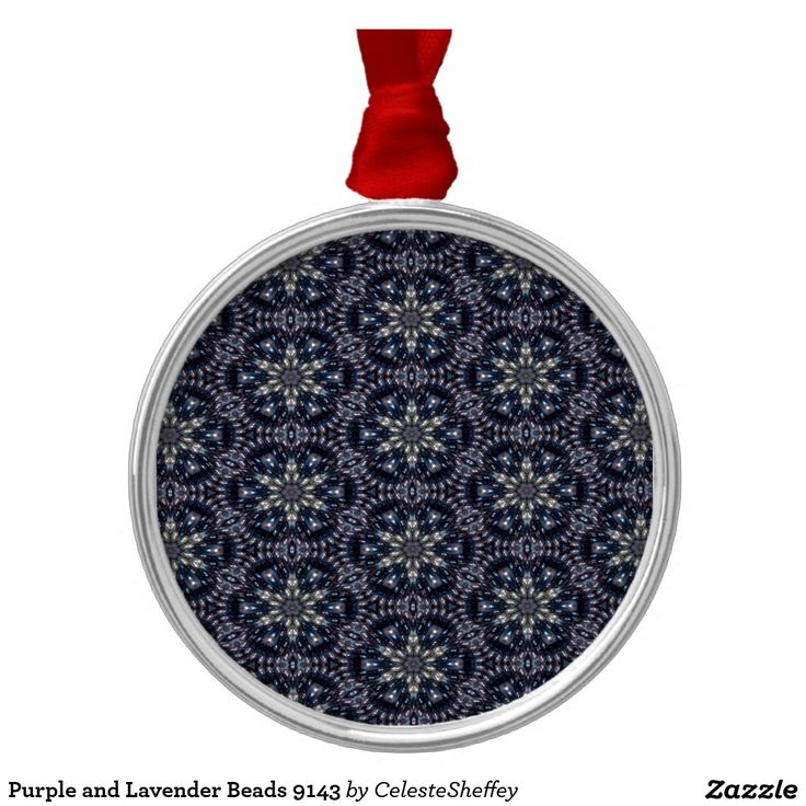 Purple and Lavender Beads 9143 Christmas Ornament