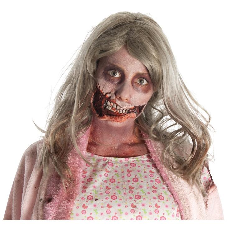 ウォーキングデッド ゾンビの女の子 ラテックス製口の特殊メイク 大人用  from アカムス #ゾンビ