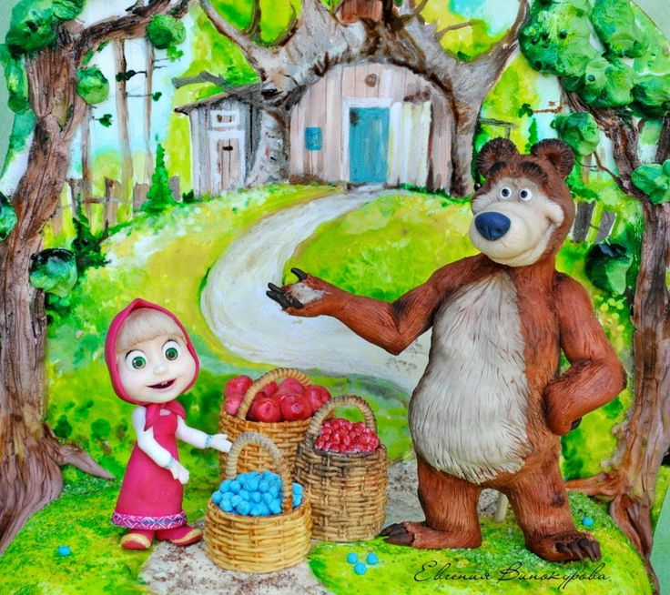 Masha and the bear) - Cake by Evgenia Vinokurova