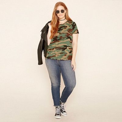 Kissmilk Plus Size New Fashion Women Clothing Casual Streetwear Loose Camouflage Tops Slim Print O-Neck T-shirt 3XL 4XL 5XL 6XL