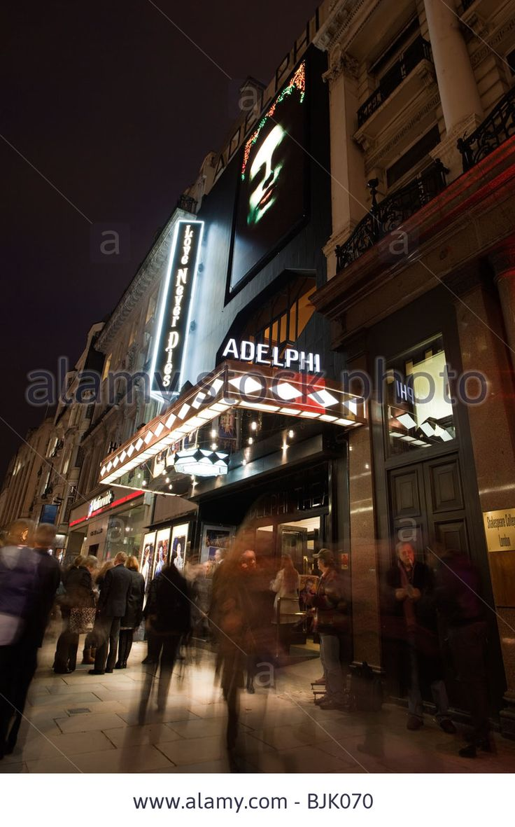 Adelphi Theatre At Night, Strand, London Stock Photo, Picture And Royalty Free Image. Pic. 28691460