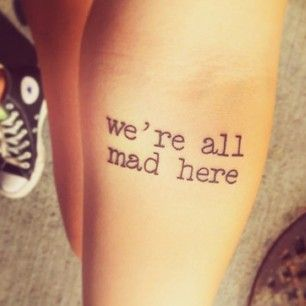 Alice's Adventures in Wonderland | 50 Incredible Tattoos Inspired By Books From Childhood