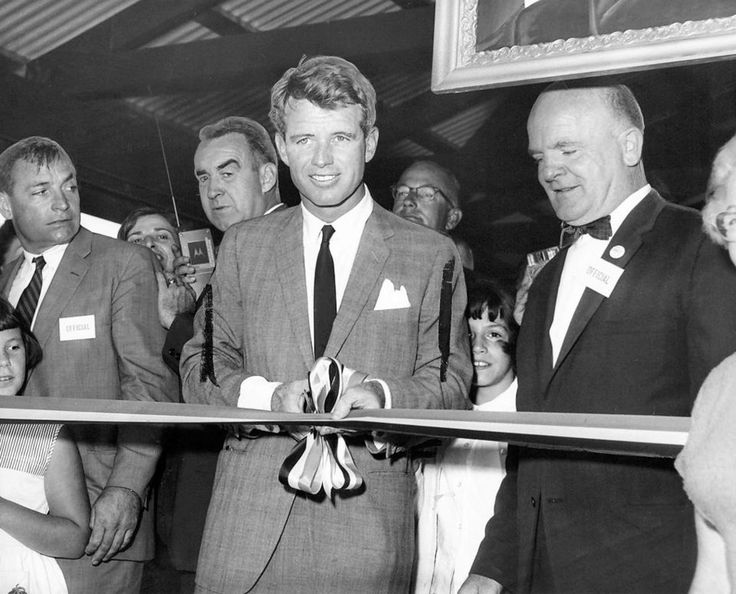 Robert Kennedy in Syracuse at at a ribbon-cutting ceremony in Syracuse, September. 5, 1964. This is most likely the Democratic headquarters in what's known now as the Landmark Theatre building.